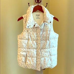 Off-white leopard print puffer vest
